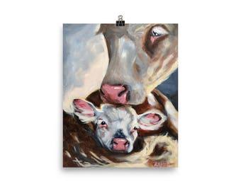 Cow and Calf - Art Print