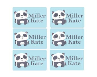 95ct Stick On Clothing Name Labels, Panda Clothing Labels, Personalized Uniform Name Labels, Washable Labels, Camp Labels, School Labels