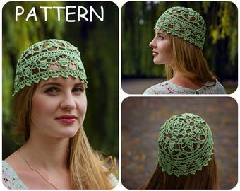 Lace Crochet Hat Pattern - DIY Crocheters Gift - Women's Hat Lace Pattern - Crochet Beanie Pattern - How To Crochet Beanie Lace Hat