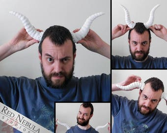 7 Inch Curved Horns (Pair), Detailed Monster Horns, Blank Resin Horns, Wearable Horns, Beast Horns, Animal Costume Props, DIY Accessories