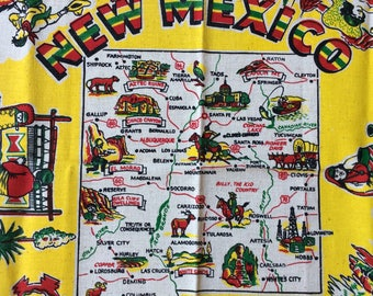Vintage New Mexico souvenir tablecloth   Never used