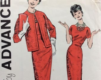 Advance 9173 junior misses dress & jacket size 15 bust 35 vintage 1960's sewing pattern  Uncut