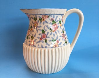 "7"" Pretty Japan Vintage Pottery Pitcher Jug Juice Water"