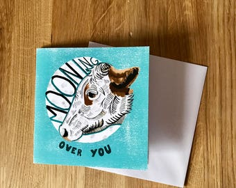 Mooning over you card