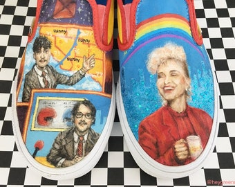 HAND-PAINTED PARAMORE vans shoes!
