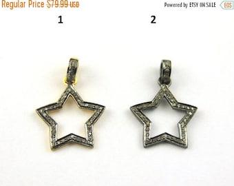 Mega sale 1 Piece Pave Diamond Star Pendant- Diamond Star Pendant (You Choose) 21mmx18mm PD169