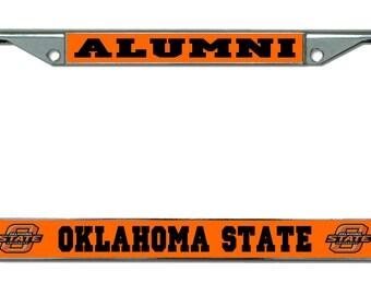 Oklahoma State University Alumni Chrome License Plate Frame