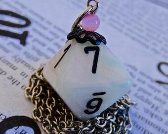 D8 dice necklace