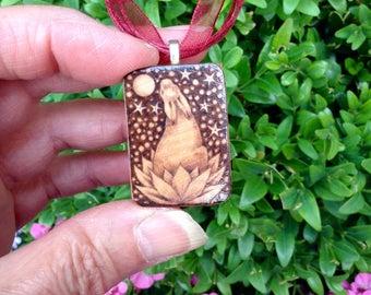 Birchwood Lotus Hare Pendant