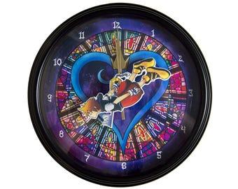 Kingdom Hearts - 3D Wall Clock - Video Game Decor - Video Game Wall Art - Kingdom Hearts Wall Art - Gamer Gift - College Dorm Decor