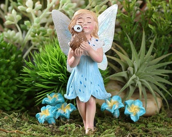 Fairy Garden  - Athena And Pet Owl - Miniature