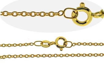 Summer Sale 9CT Gold Plated Fine 1.6mm Trace Chain Necklace VARIOUS LENGTHS