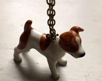 Jack russel ceramic necklace