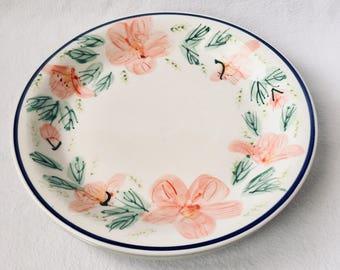 222 Fifth Gabrielle Cream Fine China Porcelain Dinner Plate /