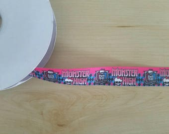Monster High Grosgrain Ribbon, for bows and crafts ON SALE!! 0.50 cents per yard...