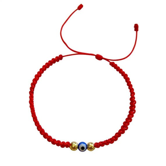 Evil Eye Bracelet Red String for Protection • Adjust to All Sizes • Waterproof • Long Lasting String • Best Quality Braiding • Party Pack