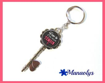 "Door keys or bag charm, ""Will you be my best man?"", wedding, glass cabochons"