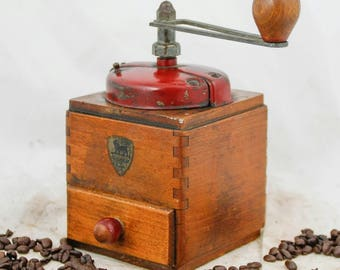 PEUGEOT FRERES Coffee Grinder French Moulin Molinillo Cafe Kaffeemuehle Koffiemolen Antique Vintage Old Hand crank table Mill