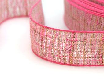 Hemp 2.5 cm wide ribbon