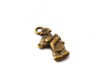 Small bronze bear charm