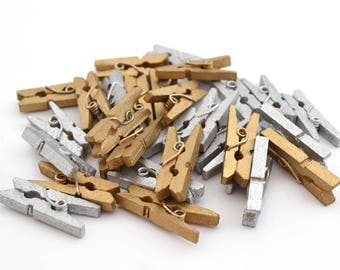 15 tiny clothespins 25 mm