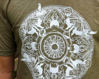 Beatles Mandala Men's Tshirt