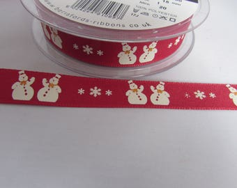 Snowman and Snowflake Ribbon