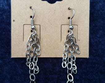Chain Cluster Dangle Earrings