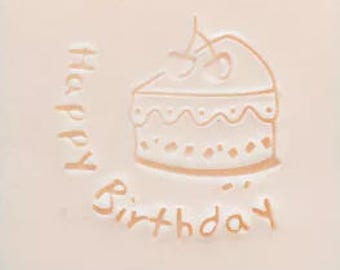 Cake soap stamp happy birthday cake mold Acrylic soap stamp