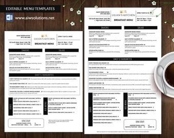 Restaurant Menus,  Takeout Menus , Table Tents  Bar Menus , Cafe Menus  ,Kids Menus,  Menu Printing, food menu template, editable food menu
