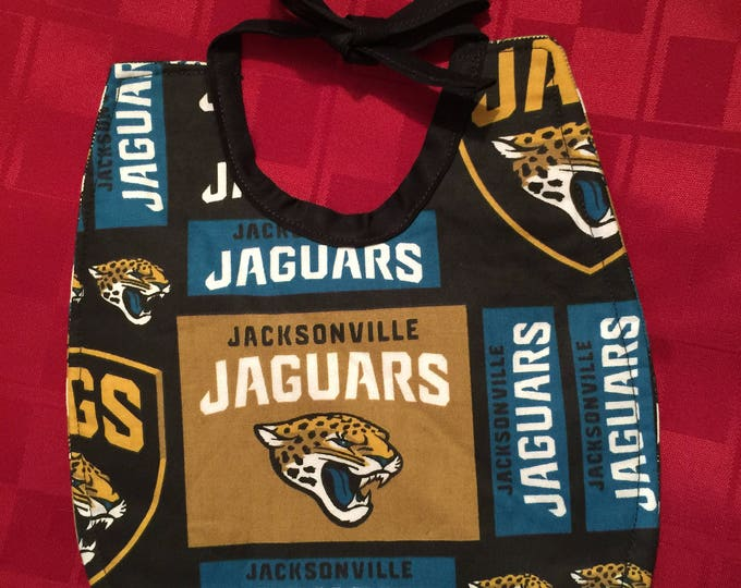 Baby Bib Jacksonville Jaguars Inspired Fabric Print,  Available in 3 Sizes!!