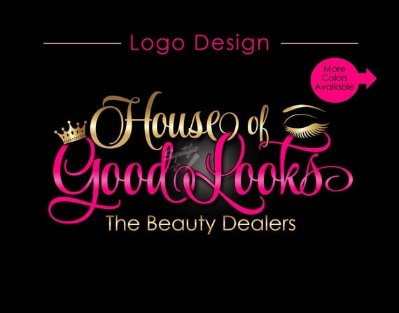 Custom Logo, Eyelash Salon Logo, Makeup Logo, Makeup Artistry Logo, Lashes Logo, Beauty Salon Logo, Business Logo, Crown Logo, Logo Custom