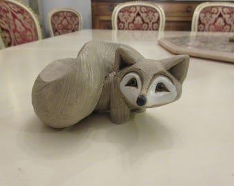 FOX ART Pottery Signed ME