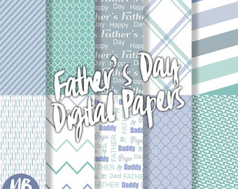 FATHERS DAY Digital Paper, Printable pdf, Dad, Daddy, Father, Pop, Papa, Chevron, Stripe, Quatrefoil, Printable Paper, Instant Download