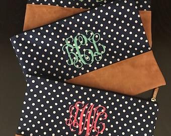 Monogrammed Cosmetics Bag/ Monogram Make Up Bag/ Monogram Travel Bag/