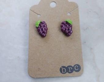 Grape stud earrings