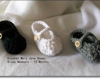 Baby Shoes, Mary Jane Baby Shoes, Crochet Shoes, Crochet Baby, Newborn Shoes, Baby Girl Booties, Mary Janes
