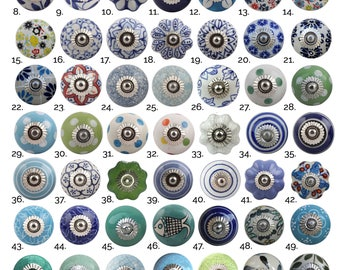 Blue Green Ceramic Cabinet Knobs | Furniture Door Knobs in Various Designs | China Drawer Pulls, Kitchen Cupboard Handles