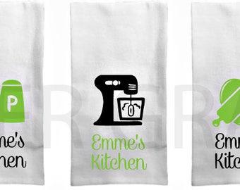Tea Towel, Kitchen Towel, Dish Towel, Monogram Dish Towel, Hostess Gift Ideas, Hostess Gift, Housewarming Gift Ideas, Housewarming Gift