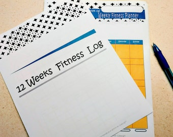 weekly exercise and fitness log/journal pdf