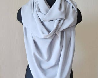 Chiffon scarf gift|for|wife summer scarf wrap gray scarf womens scarves gifts for mom long scarf bridal shawl birthday gift|for|her cover up
