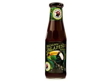 Cranky Rooster Hot Chili Gourmet Jalapeno Balsamic Ketchup (Small Batch)