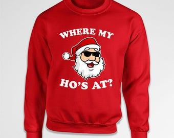 Funny Xmas Sweater Santa Claus Christmas Hoodie Holiday Sweatshirt Christmas Party Xmas Clothing Holiday Pullover Santa Hoody X-Mas TEP-631