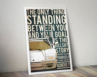 The Wolf of Wall Street poster wolf of wall street poster alternative poster Lamborghini poster car poster Leo DiCaprio Lamborghini Countach