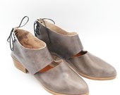The Rakia. Tamponato Grey. 3cm. Handmade Flats. Soft Shoes.