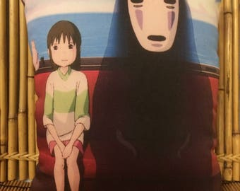 Spirited Away Anime Pillow - feat. the Chihiro and No Face - (Studio Ghibli)