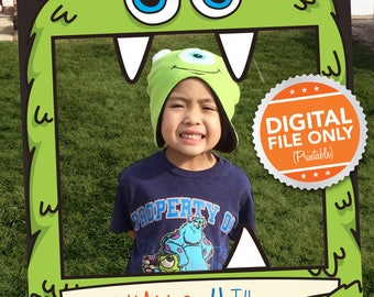 Monster Bash Theme Photo Booth. Party Prop Frame. Digital File only