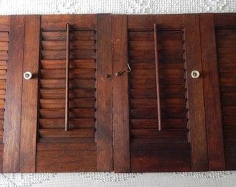 Vintage Wooden Window Shutters