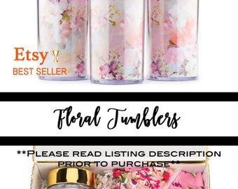 Bridesmaid Gift, Personalized Gift, Bridesmaids Gifts, Bridesmaid Proposal, Maid of Honor Gift, Floral Tumbler, Floral Wedding