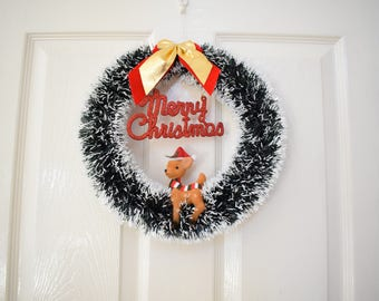 Christmas wreath kitsch retro vintage
